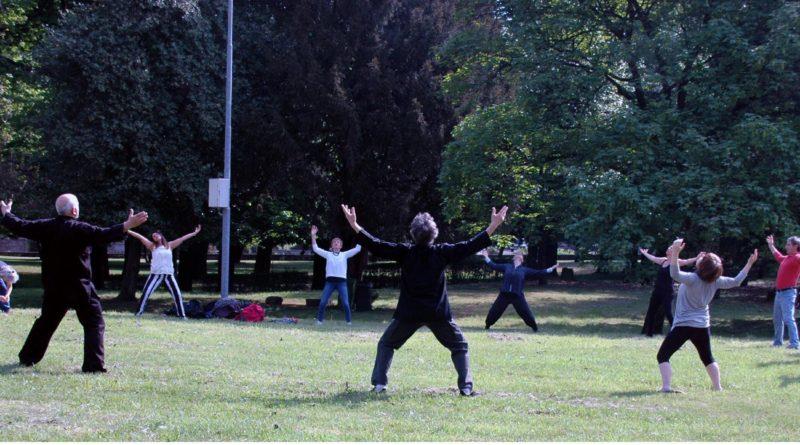Qi Gong e Tai Chi Itcca nel Parco di Villa Molina a Venegono Inferiore