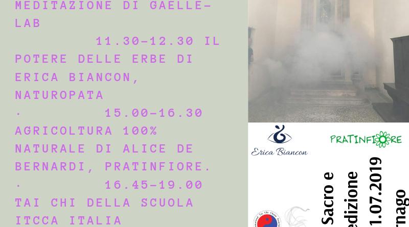 Salute tra il Sacro e l'Olistico II edizione – 21.07.2019 in San Rocco a Carnago (VA)